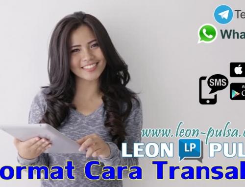 Format Cara Transaksi Leon Pulsa