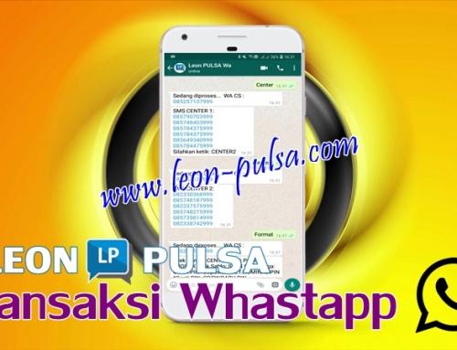 Cara Transaksi WhastApp Leon Pulsa