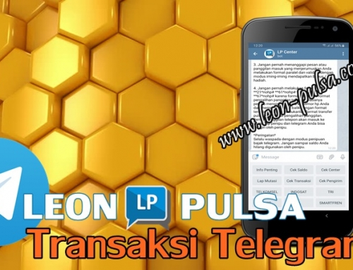 Cara Transaksi Telegram Leon Pulsa